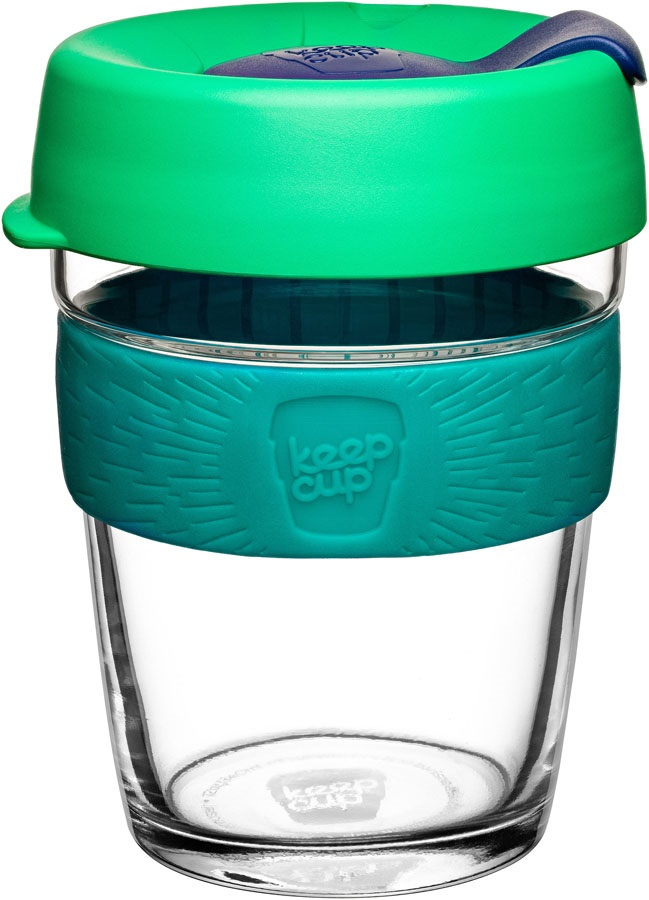 KeepCup Brew Glass Reusable Travel Coffee Cup, 340ml/12oz Floret