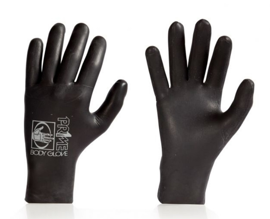 Body Glove Pr1me 3mm 5 Finger Wetsuit Gloves Dipped, Medium Black 2018