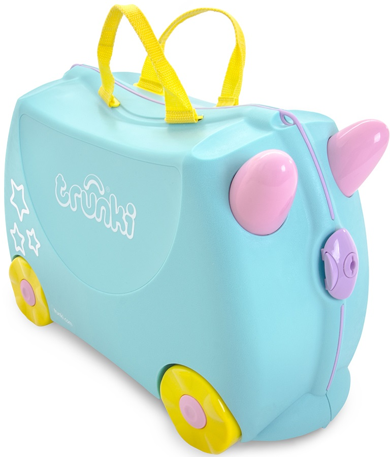 Trunki Una The Unicorn Kid's Wheeled Hand Luggage, 18L Blue
