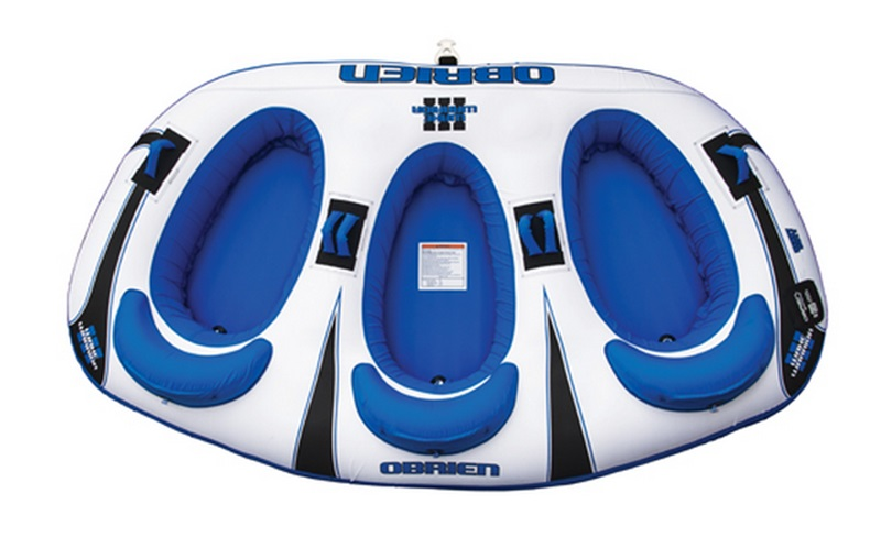 O'Brien Wake Warrior Seated Towable Inflatable Tube 3 Rider Blue