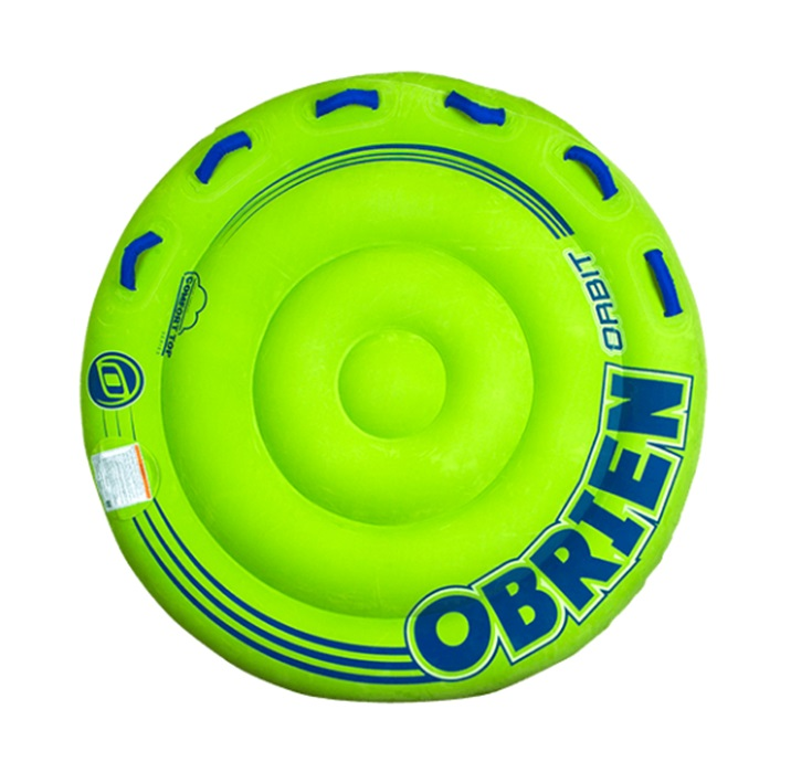 O'Brien Orbit Plush Top Towable Inflatable, 2 Rider Green