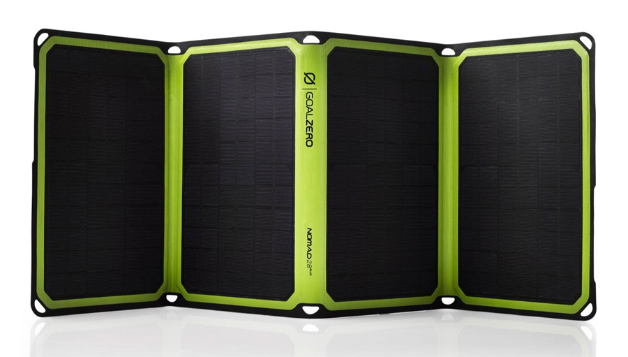 Goal Zero Nomad 28 Plus Large Portable Solar Panel Kit, Black