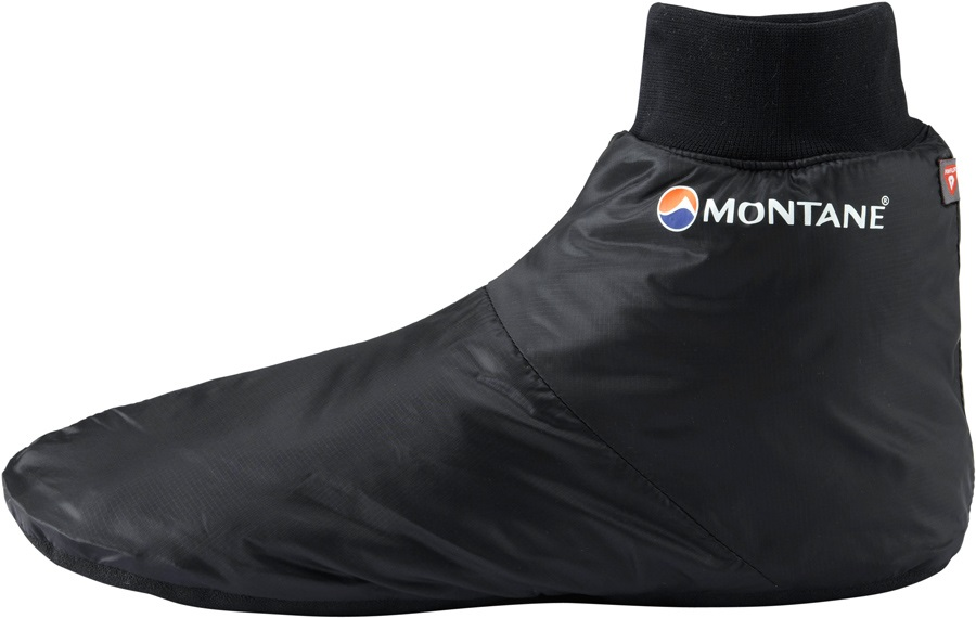 Montane Fireball Footie Insulated Camping Slippers, XL, Black
