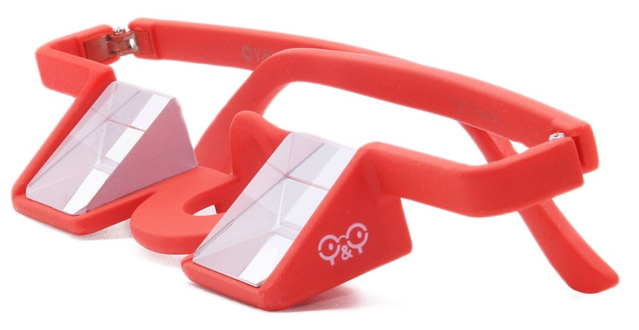 Y&Y Belay Glasses Plastic Climbing Glasses, One Size, Red