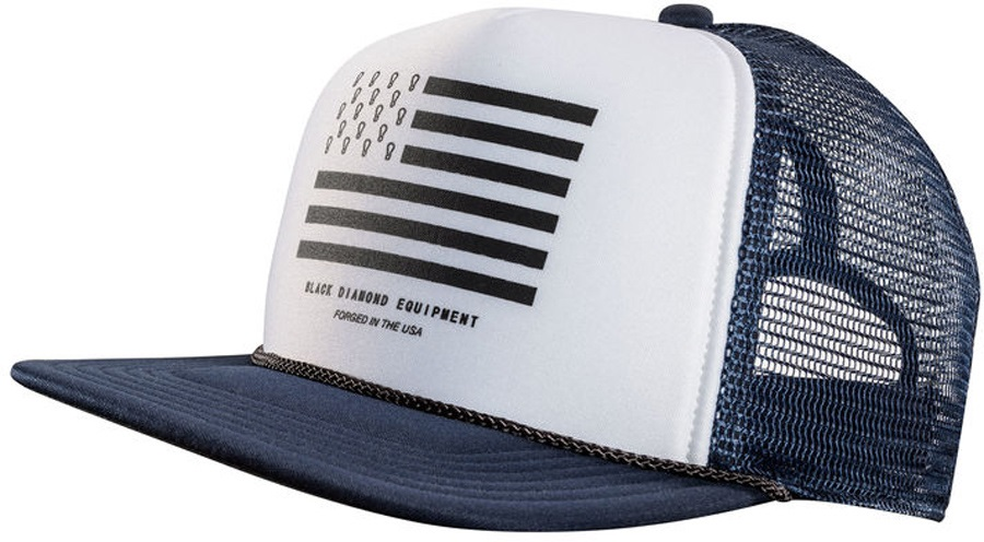 Black Diamond Flat Bill Trucker Hat OS Captain