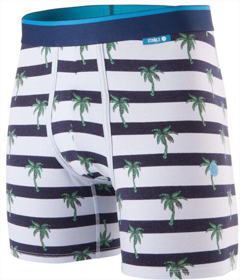 Stance Mens Wholester Cotton Boxer Shorts Underwear, L Island Stripe