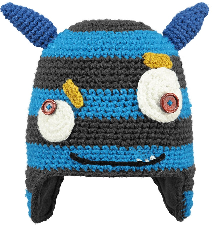 Barts Kids Monster Ski/Snowboard Beanie Hat, One Size Blue