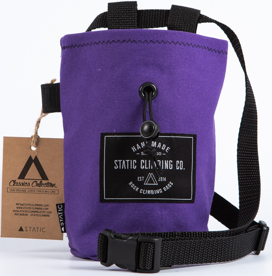 Static Canvas Rock Climbing Chalk Bag: Purple