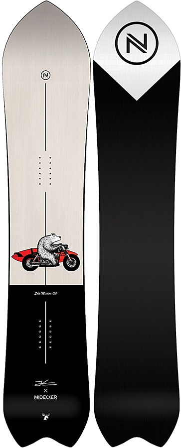 Nidecker Solo Mission Positive Camber Snowboard, 160cm Wide 2019