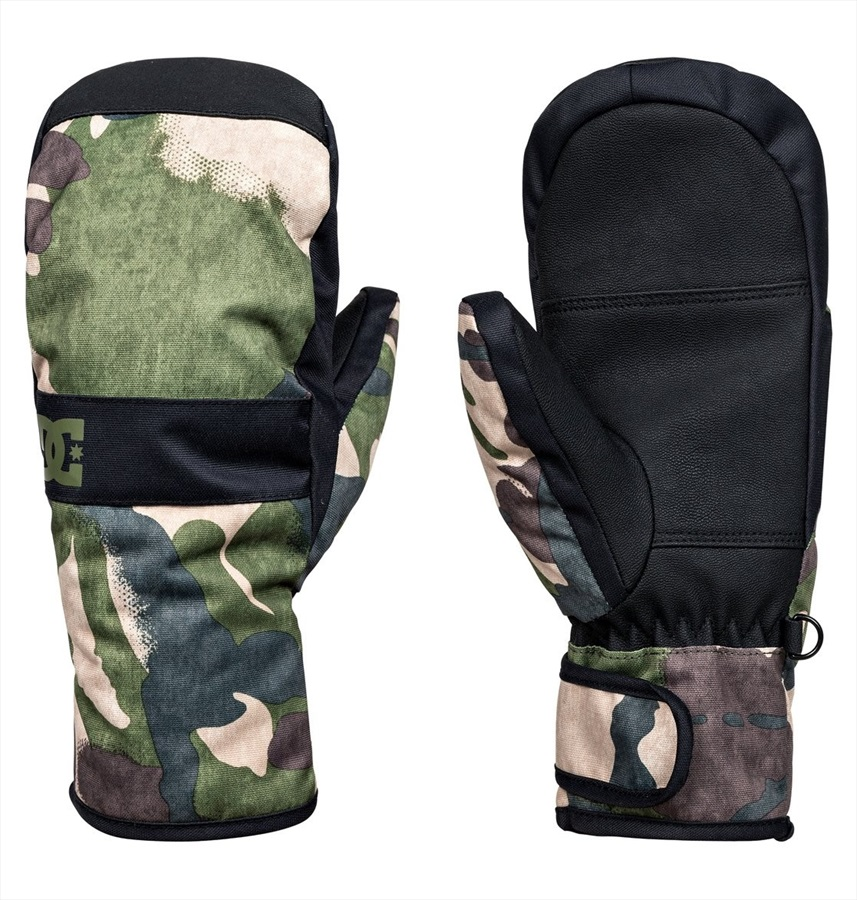 DC Franchise Youth Ski/Snowboard Mitt, L Woodland Camo