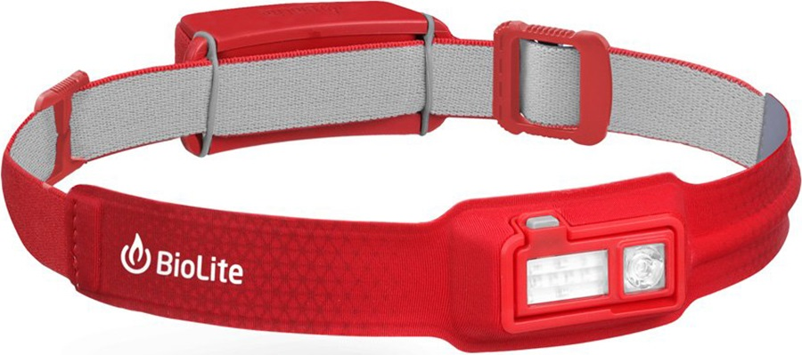 BioLite Headlamp 330 Rechargable Head Torch, 330 Lumens Ember Red