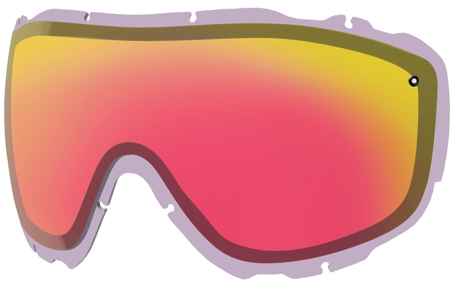 Smith Prophecy Turbo Fan Snow/Ski Goggle Spare Lens, Red Photochromic