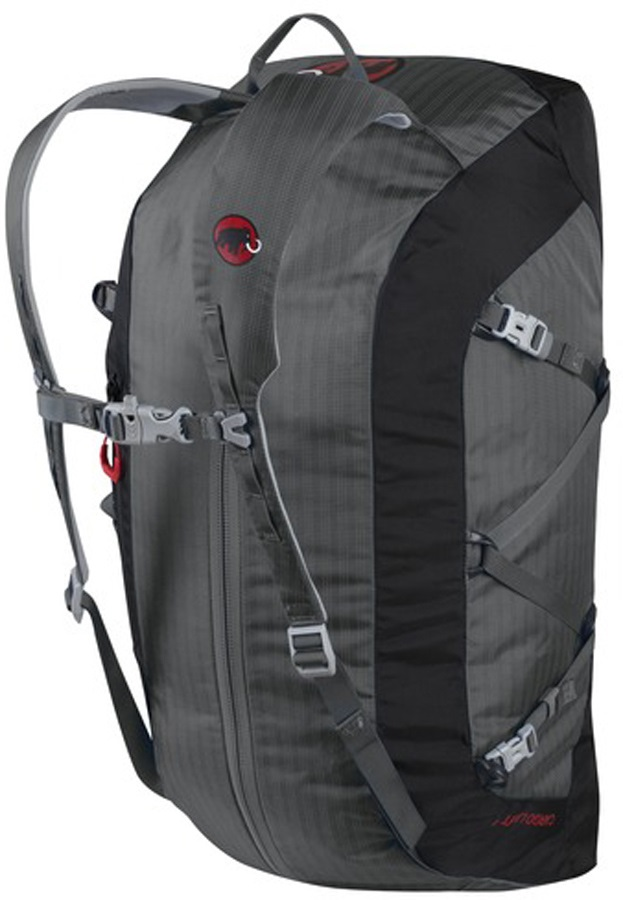 Mammut Cargo Light Travel Duffel Bag W/ Pack Straps 25L Titanium