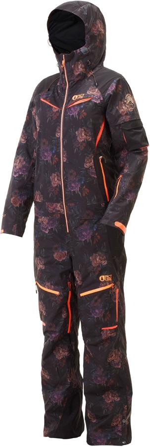 Picture Xena Women's Snowboard/Ski One Piece, S Flower Floral