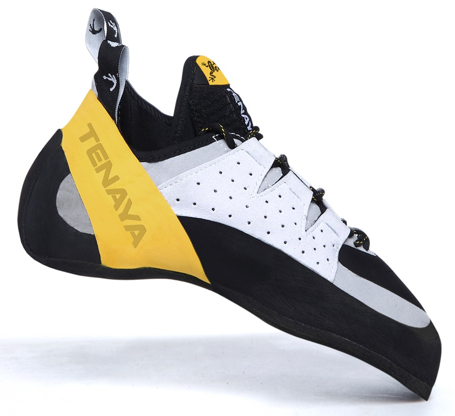 Tenaya Tarifa Rock Climbing Shoe: UK 4.5 | EU 37.5, Yellow/White