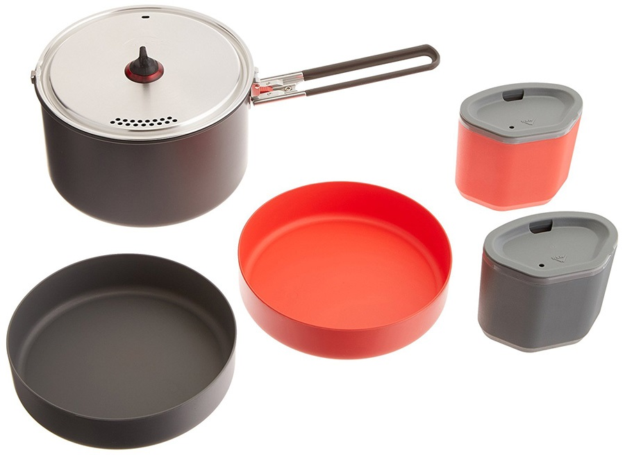 MSR Alpinist 2 System Cooking Set Camping Cookware, 2 Person