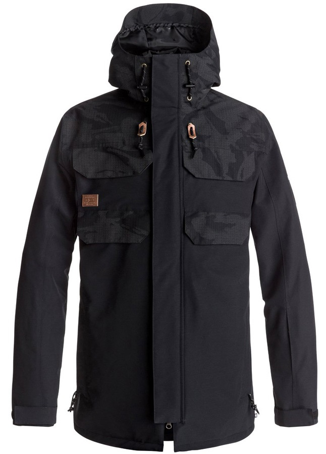 DC Haven Ski/Snowboard Jacket, L British Reflective Camo