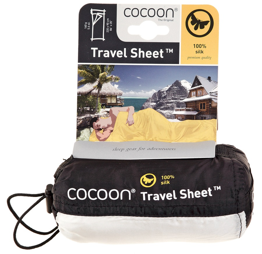 Cocoon TravelSheet Silk Ultralight Sleeping Bag Liner, Mulberry Red