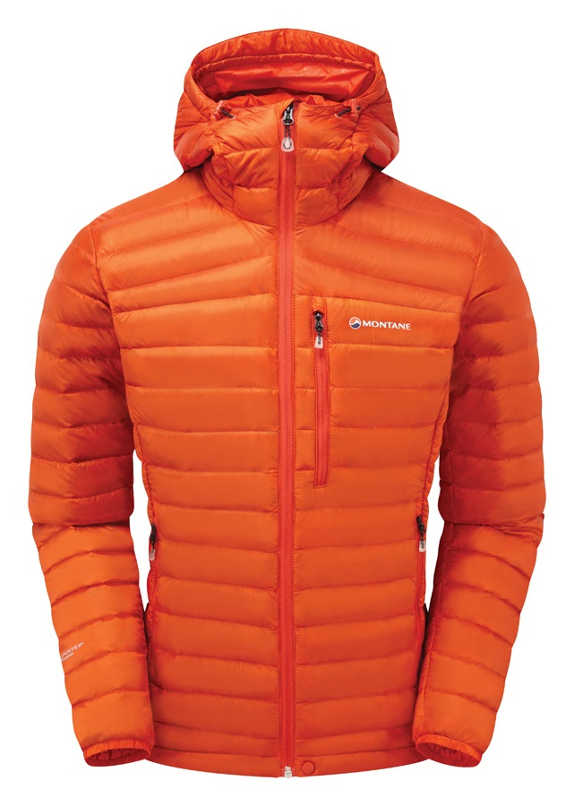Montane Featherlite Rip-Stop Down Insulated Jacket, L Firefly Orange