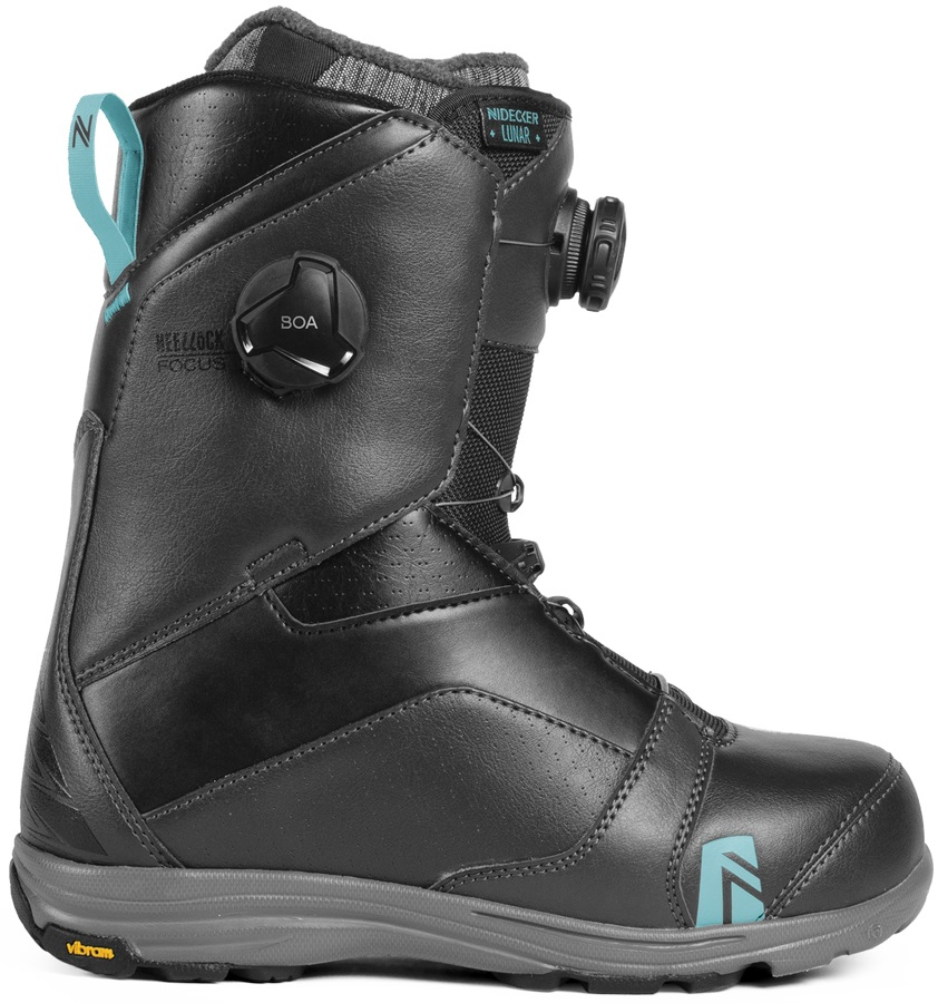 Nidecker Lunar Focus Boa Women's Snowboard Boots, UK 8 Charcoal 2019