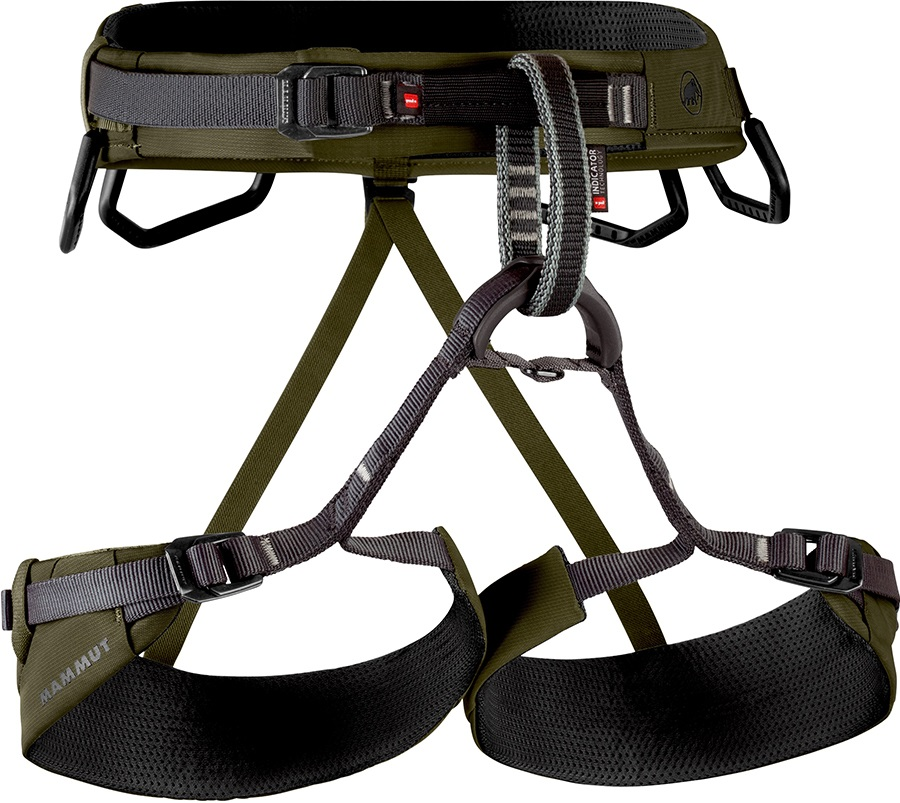 Mammut Togir 3 Slide Rock Climbing Harness, XL Olive-Black