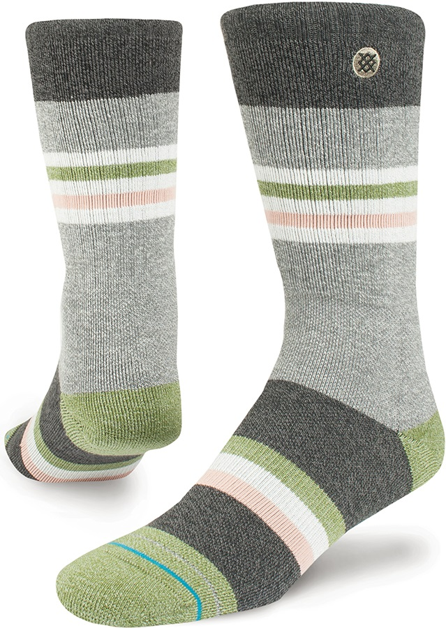 Stance White Salmon Outdoor Walking/Hiking Socks, L Black