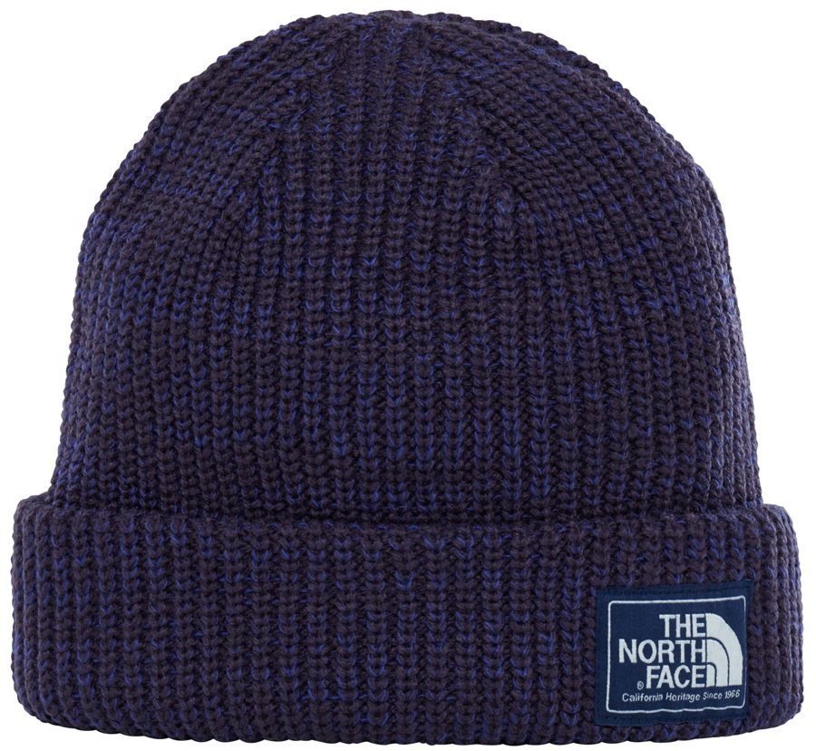 The North Face Salty Dog Beanie Hat, Eggplant Purple/Bright Navy Marl