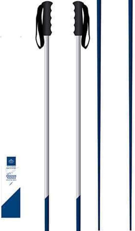 67b153b1412b89 Faction Candide Thovex Pair Of Ski Poles, 130cm Blue/White