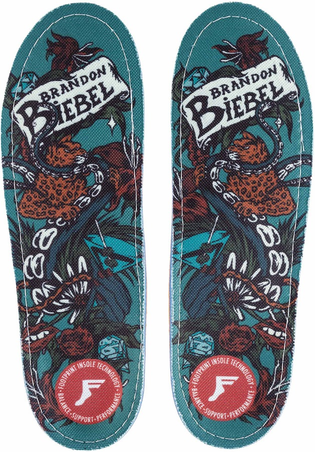 Footprint Brandon Biebel Kingfoam Orthotic Insoles, UK 11.5-12, Garden