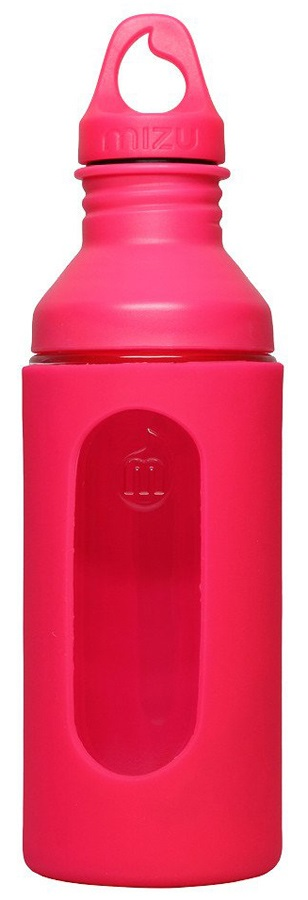 Mizu G7 Glass Bottle Insulated Glass Water Bottle, 700 Ml, Pink