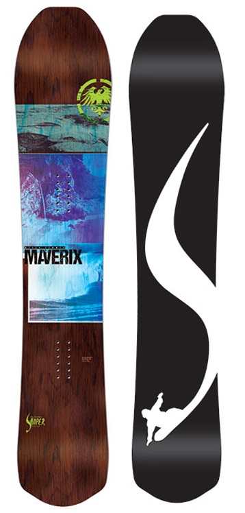 Never Summer Maverix Rocker Camber Snowboard, 157cm 2019