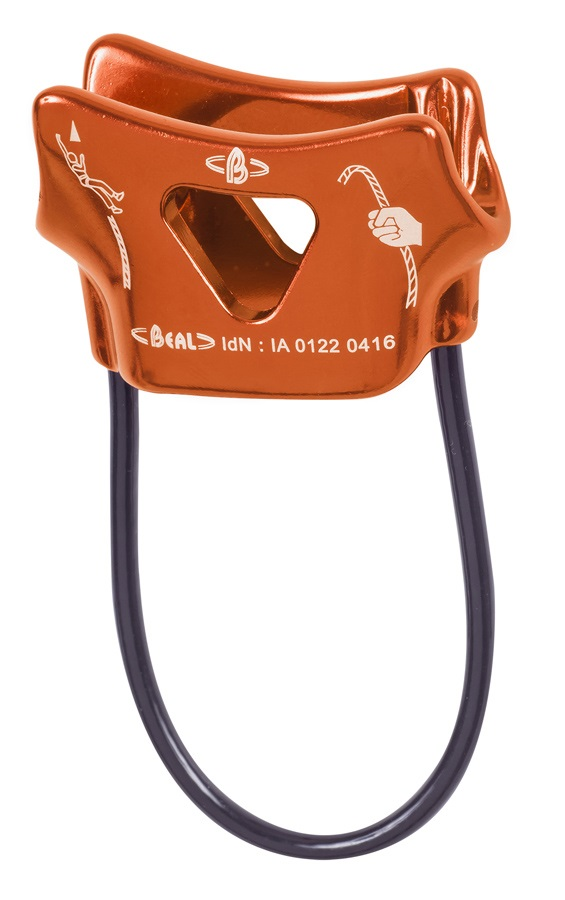 Beal Air Force 1 Rock Climbing Belay Device, Orange