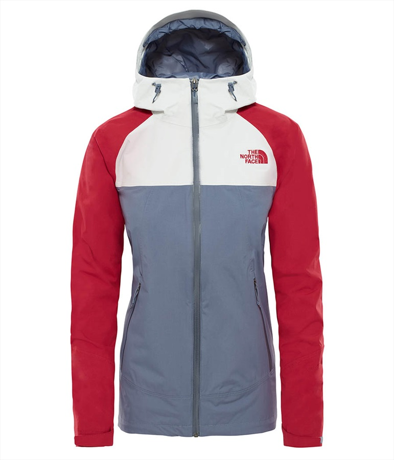 The North Face Stratos Women's UK 14 Grisaille Grey/Tin Grey/Rumba Red