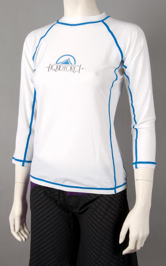 Liquid Force JR Tight Ride Thermal Riding Top, Jr Medium LS, White