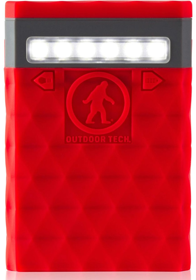 Outdoor Tech Kodiak Plus 2.0 Portable Battery Pack & Charger, Red