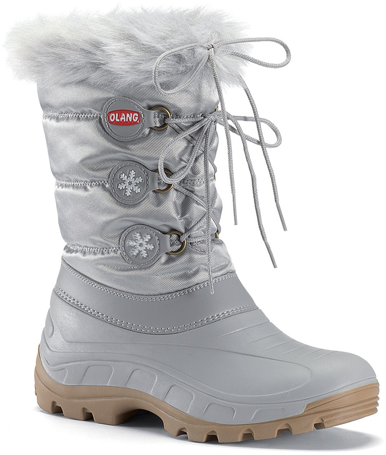 Olang Patty Winter Snow Boots, UK 2.5/3.5, Silver