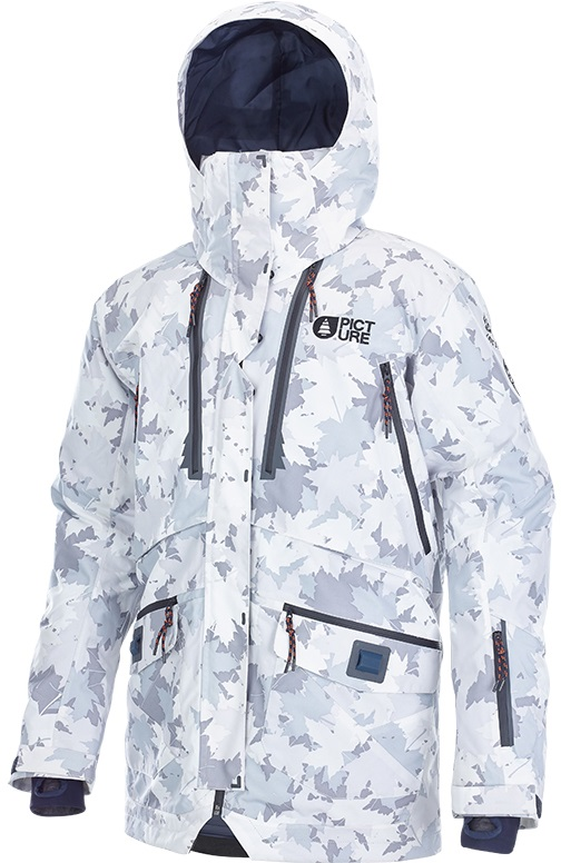 Picture Central Ski/Snowboard Jacket, XL Grey/Camo