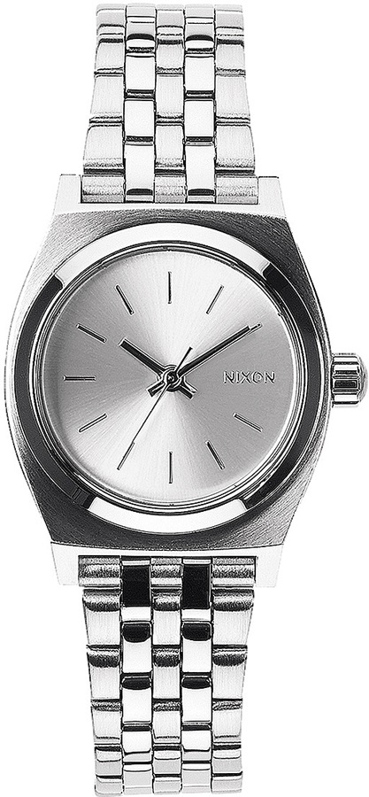 Nixon Small Time Teller Women's Watch, All Silver