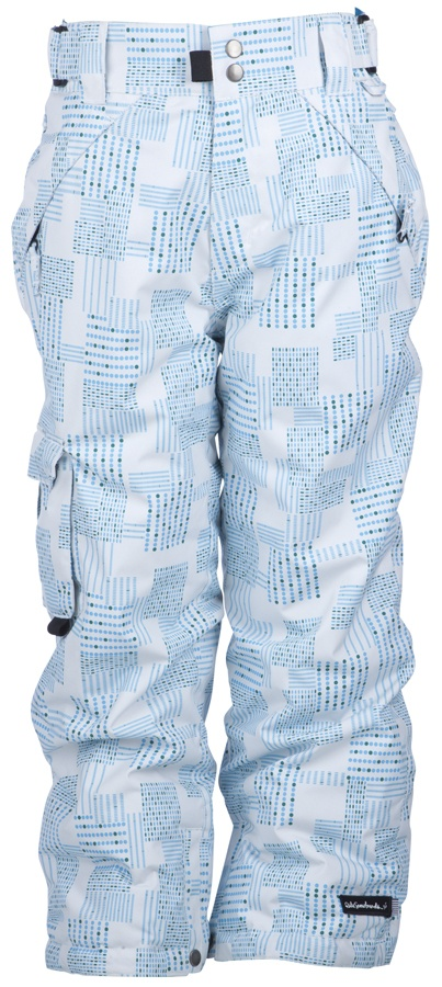 Ride Youths Dart Girl's Snowboard Pants, XS, White Dot