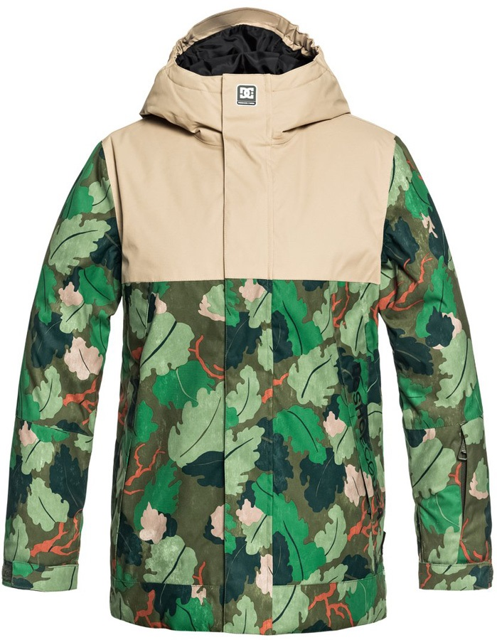 42f107b1a DC Defy Youth Kid's Ski/Snowboard Jacket, 14 Years Chive Leaf Camo