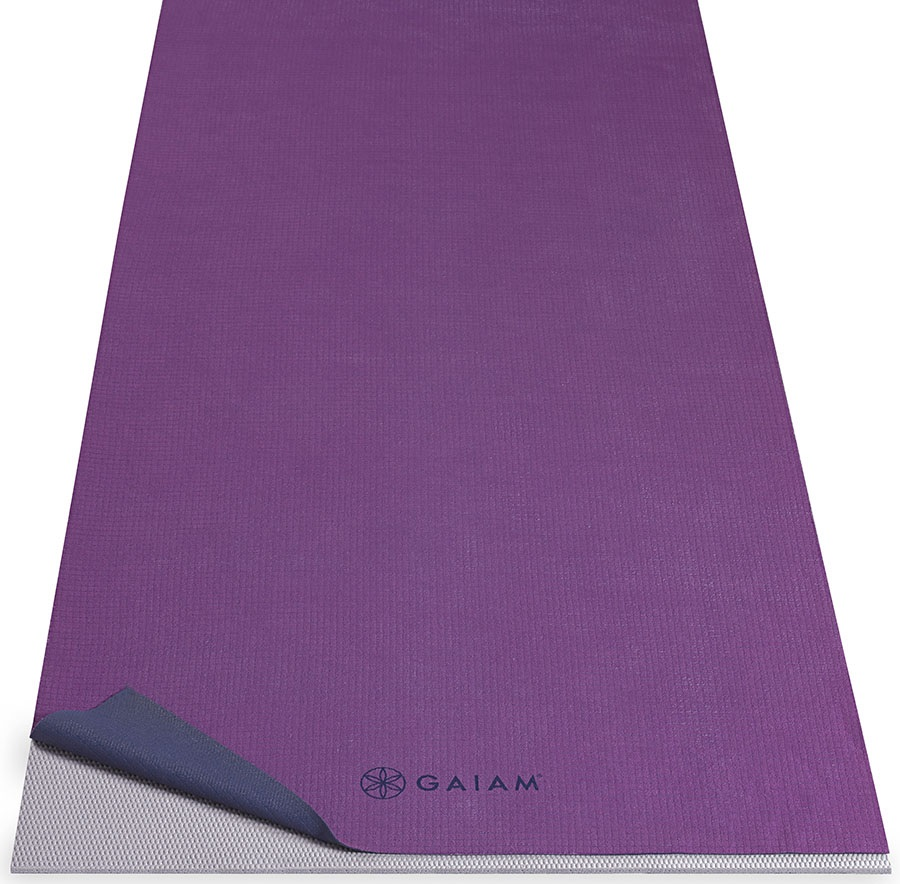 Gaiam No Slip Yoga Mat Towel Grape Estate Blue