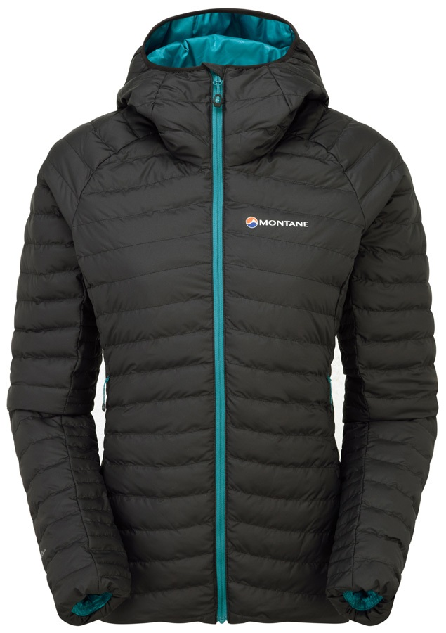 Montane Phoenix Baffle Women's Insulated Hooded Jacket, XS Black