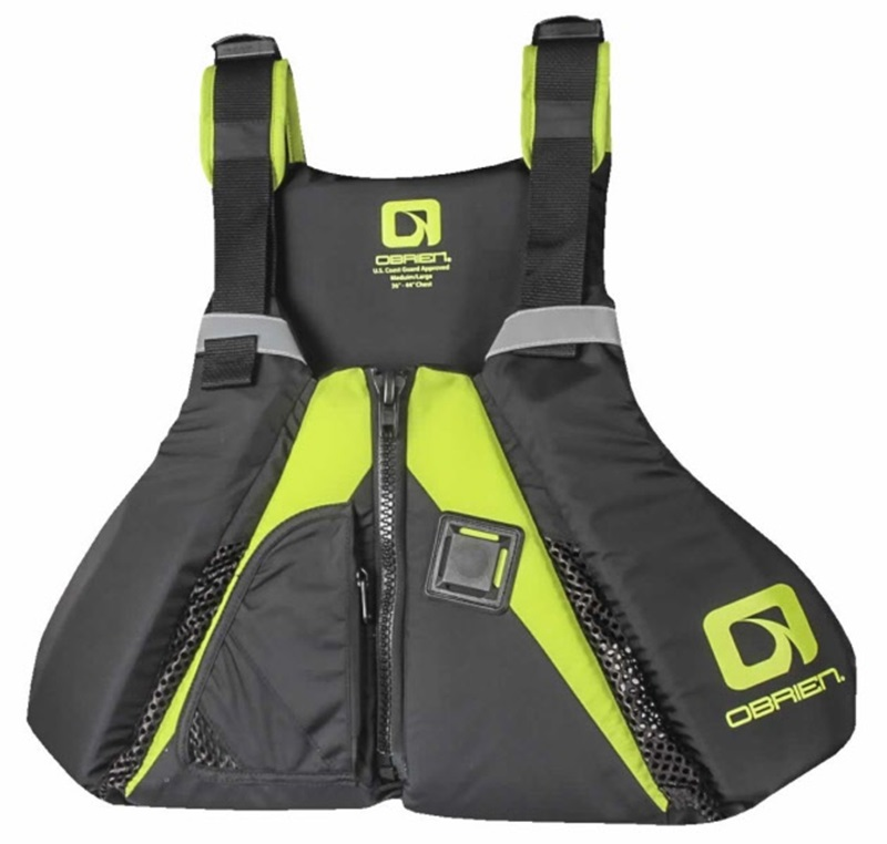 O'Brien Arsenal Flotation SUP Paddle Board Vest, XS-S Black Green