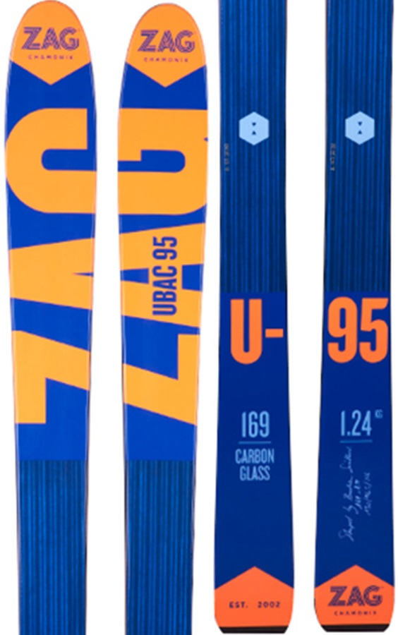 ZAG Ubac 95 Skis, 178cm Blue/Orange 2018