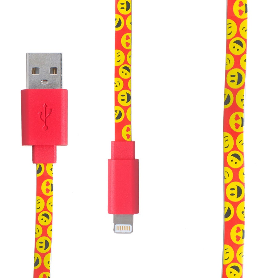 Pop Power Apple MFI/Lightning IPhone Charging Cable, 1m, Emoji