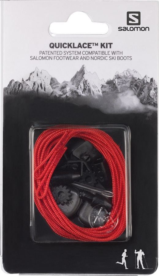 Salomon Quicklace Replacement Lace Kit, One Size, Red