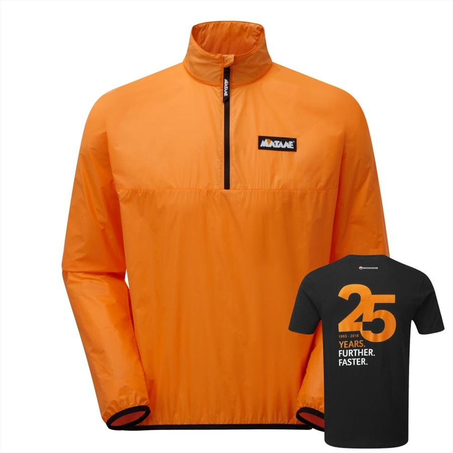 Montane Featherlite Smock + Free T-Shirt Limited Edition Pullover, XL