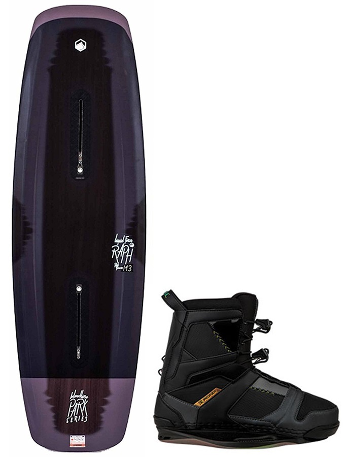 Liquid Force Raph Bloodline|DarkSide Wakeboard Pack, 143| 11 Black