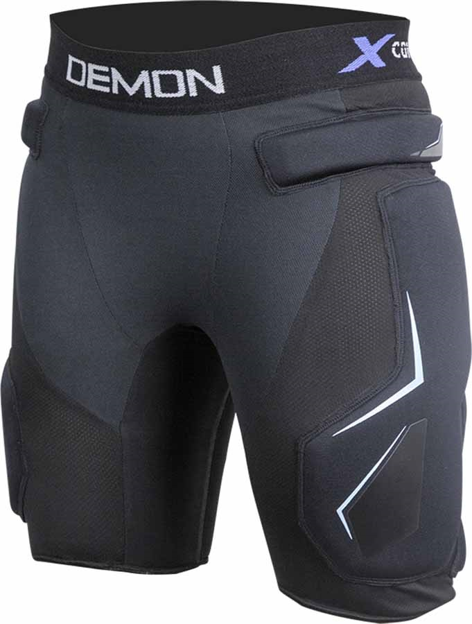 Demon X Connect X D3O Women's Snowboard/Ski Impact Shorts, XL Black