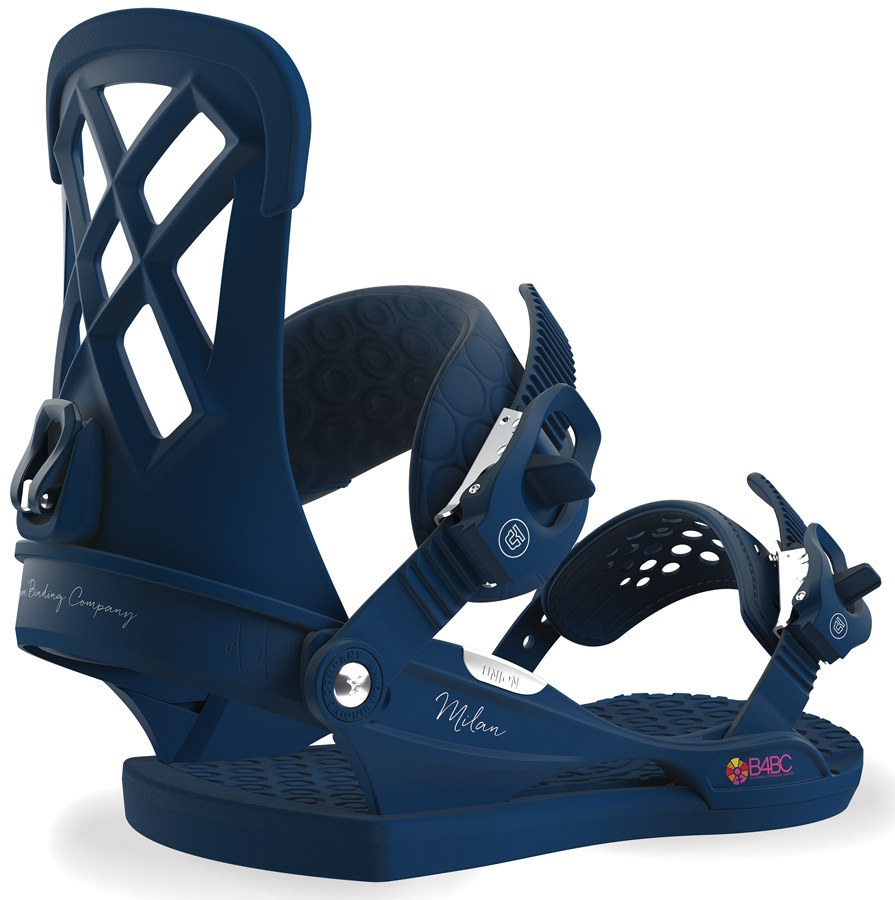 Union Milan Women's Snowboard Bindings, M Midnight Blue B4BC 2019